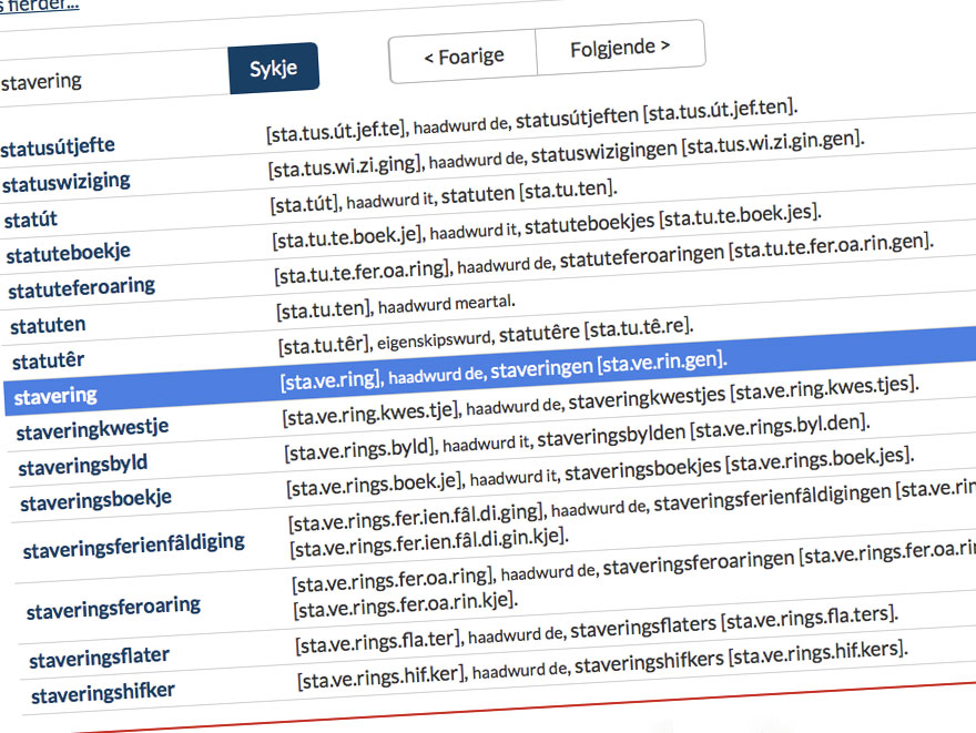 Fryske stavering en taalhelp: Fryske Akademy