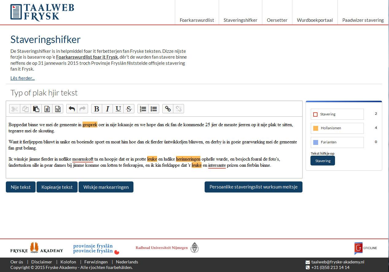Friese spelling en taalhulp: Fryske Akademy